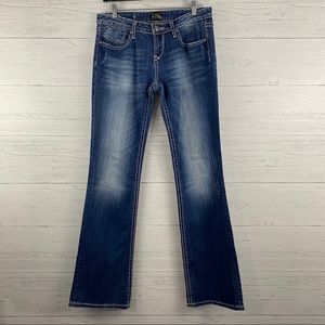 Rerock Express Dark Wash Boot Cut Denim Jeans